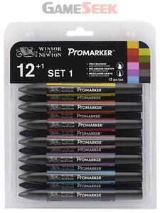 Windsor and Newton Letraset ProMarker Set (12 colours + Free Blender) - Set No.1