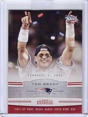 2016 Panini Eternal  Pe Ne13 Tom Brady   Wins 1St Super Bowl Mvp   Only 183 Made