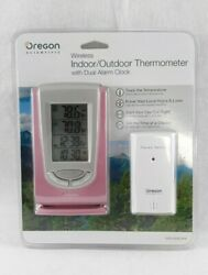 Oregon Scientific Wireless Indoor Outdoor Digital Thermometer Dual Alarm Clock