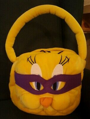 Tweety Bird Yellow Plush Trick r Treat Basket