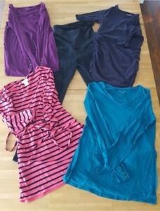 Maternity Clothes - 5 long sleeve tops and 1 pair of jeans