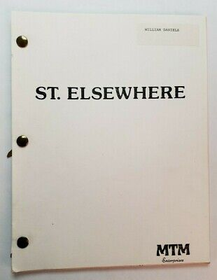 ST. ELSEWHERE / Eric Overmyer, 1987 WILLIAM DANIELS personally used TV Script