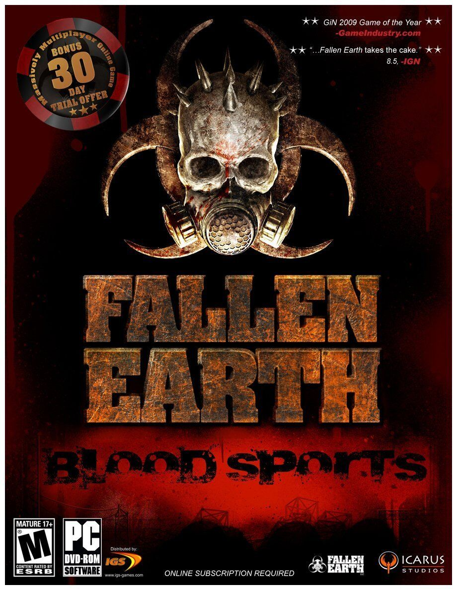 Computer Games - Fallen Earth Blood Sports PC Games Windows 10 8 7 XP Computer online rpg fps NEW