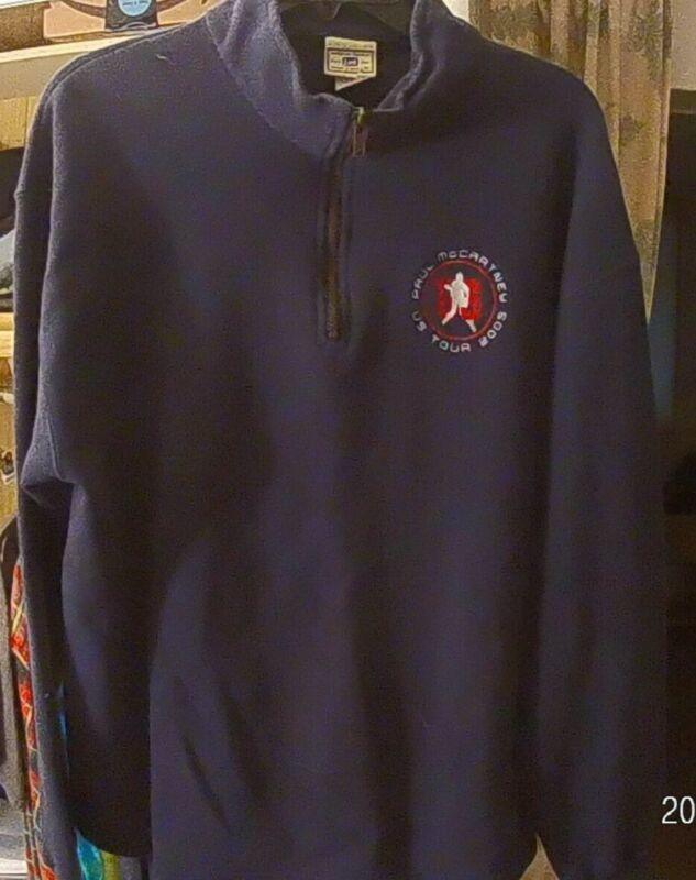 Paul McCartney US tour 2005 Lee heavyweight, north face style, pullover, large.