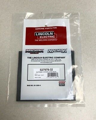 Genuine Lincoln S27978-32 Outside Cover Lens Seal Welding Helmet 4 X 5