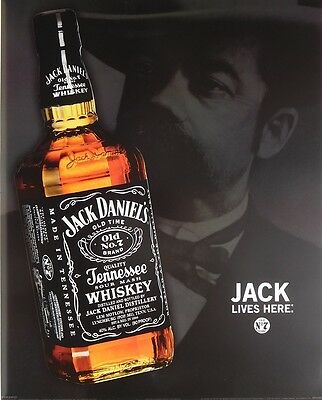 Jack Daniels Jd Poster  40X50cm  Lives Here New Licensed Art