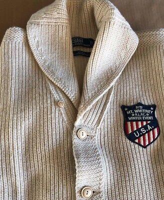 POLO Ralph Lauren Vintage 100% WOOL Mt. Whitney RLPC Winter Event USA Sweater