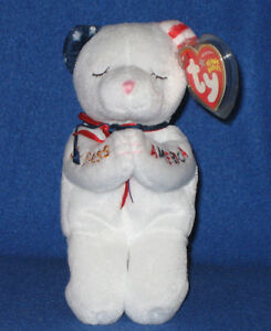 TY-AMERICAN-BLESSING-the-BEAR-BEANIE-BABY-MINT-with-MINT-TAG