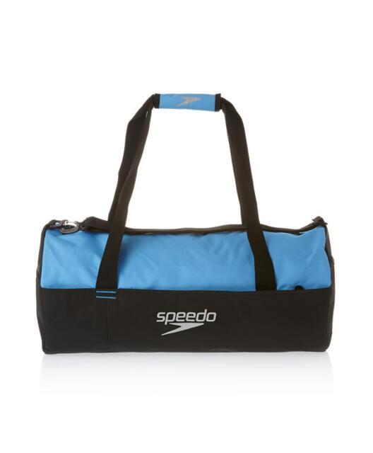 Speedo Duffel Bag Black Blue 30L Gym Swim Sports Bag