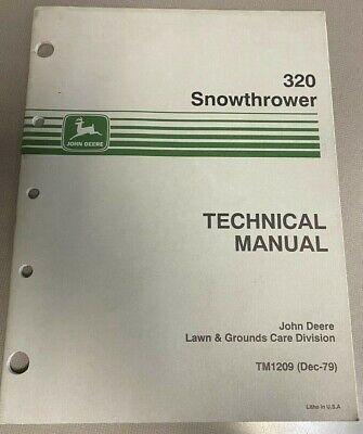 John Deere 320 Snowthrower Technical Manual Tm1209 F-4