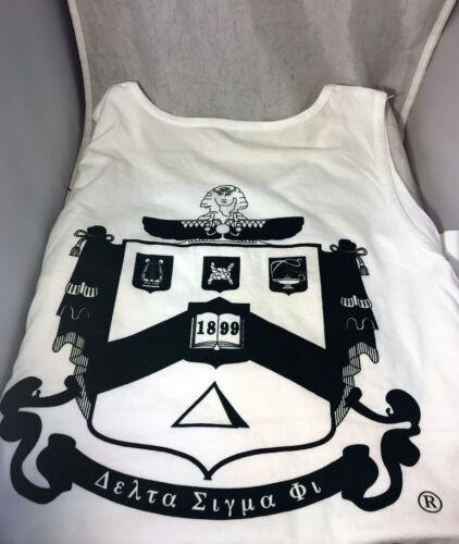 Delta Sigma Phi Fraternity Tank Top- White- Size Medium-New!