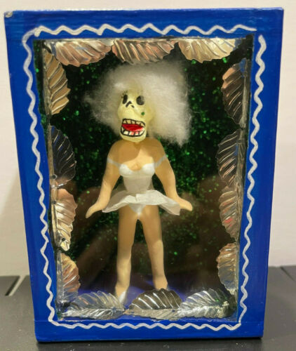 Day of the Dead Marilyn Monroe diorama. Skirt blowing up. Made in Mexico