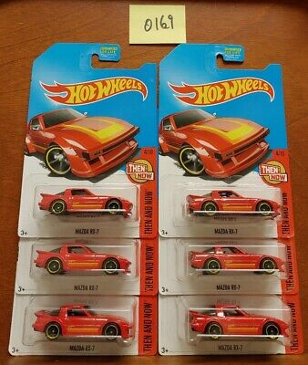 Hot Wheels 2017 KDay Kmart Exclusive Lot of 6 Red Mazda RX-7