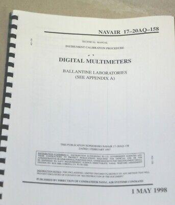 Ballantine Labs Multimeters Instrument Calibration Procedure Technical Manual