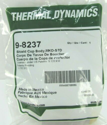 Thermal Dynamics 9-8237 Shield Cup Body MKD STD 80X64-3 SL60 SL100 A120