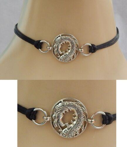 Dragon Choker Necklace Handmade Adjustable accessories Fashion Silver NEW Black