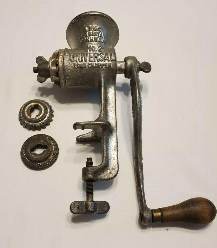 Vintage Universal Food Chopper Meat Grinder No 2 Cast Iron - Conn USA
