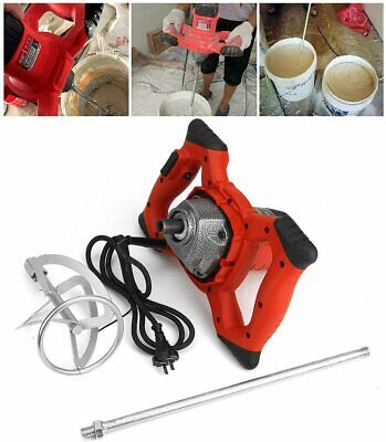 Industrial 2100w Electric Concrete Cement Mixer Thinset Grout Mud Mixing Mortar