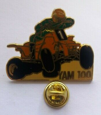 VTG YAMAHA 100 DIRT QUAD BIKE ATV RARE 1980s PIN BADGE