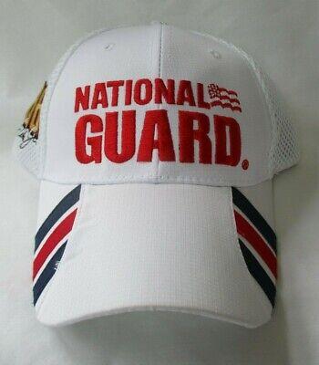 DALE EARNHARDT JR #88 NATIONAL GUARD WHITE ADJUSTABLE CAP HAT Guard White Hat