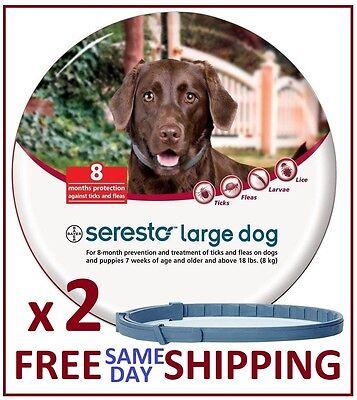 2 x Seresto Flea & Tick Collar for Large Dogs (over 18lbs)