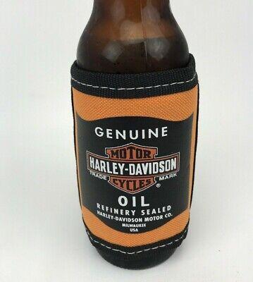Harley Davidson Motorcycle Adjustable Beer Koozie Coozie Motor Oil Refinery