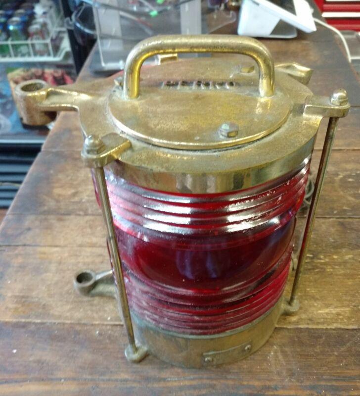VINTAGE PERKO BRASS MARINE NAVIGATION CHANNEL MARKER LAMP