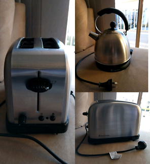 Small Kettle and Toaster for sale.
