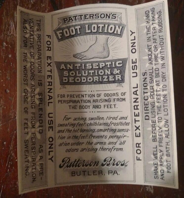 c 1900 Mint PATTERSON