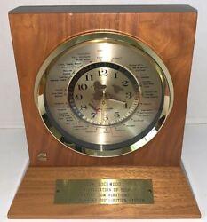 Lord King Quartz Desk World Clock w/ brass engraved Plate Japan Cummins Logo