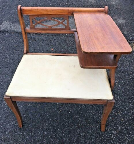 Vintage Gossip Bench Telephone Table, Entry Table
