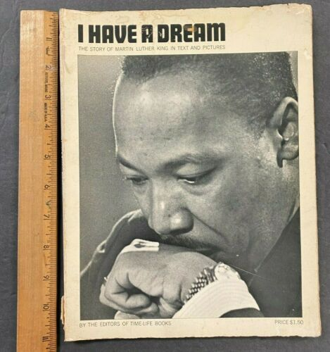 1968 VTG MARTIN LUTHER KING BOOK MAGAZINE *I HAVE A DREAM* FREE S&H (AM) 9721