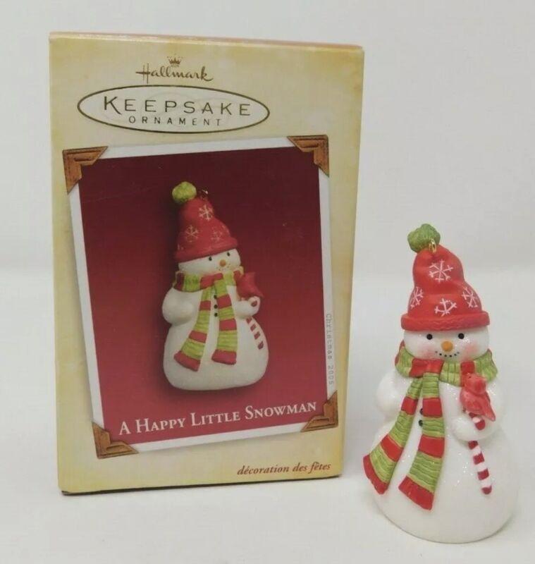 2005 Hallmark Keepsake Ornament A Happy Little Snowman Artist Favorite Nina Aube