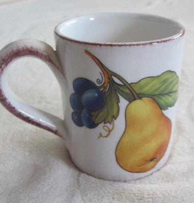 Sur La Table   Frutta  Fruit With Flowers  Italy   12 Oz Mug S    8 Avail