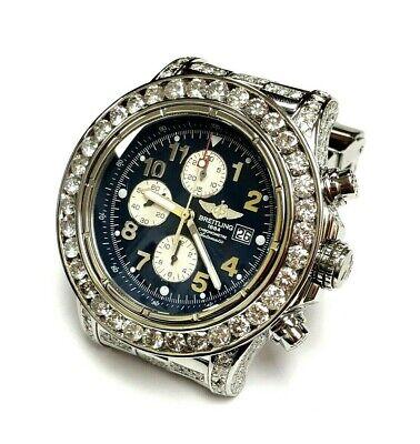 BREITLING SUPER AVENGER CHRONOMETER DIAMOND BEZEL WRISTWATCH A13370