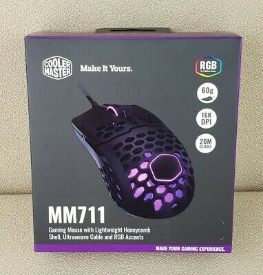 Cooler Master MM711 Gaming Mouse Usb Optical 16000 DPI NEW SEALED