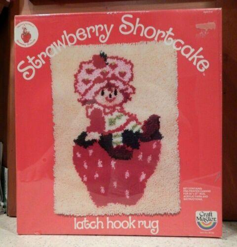 NEW SEALED VINTAGE 1981 STRAWBERRY SHORTCAKE LATCH HOOK RUG KIT