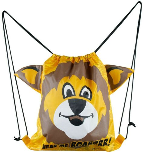 BOY SCOUTS OFFICIAL LION CUB DRAWSTRING BACKPACK 3D EARS LICENSED BSA BOY GIRL