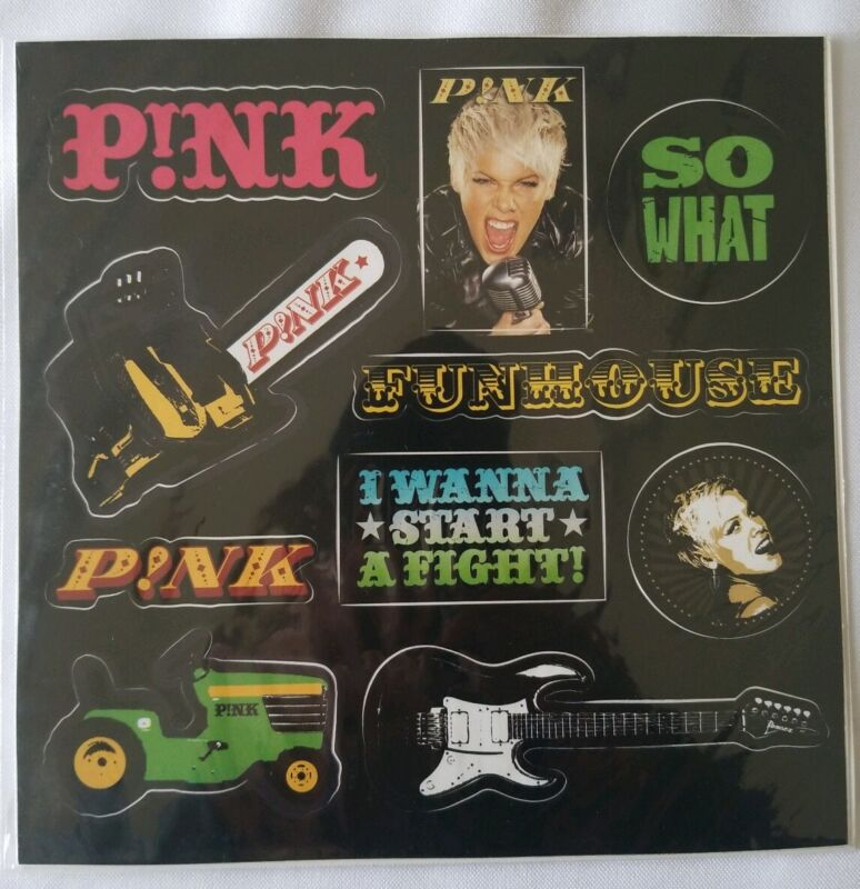 Pink P!nk Alecia Moore Funhouse Tour Stickers RARE VHF
