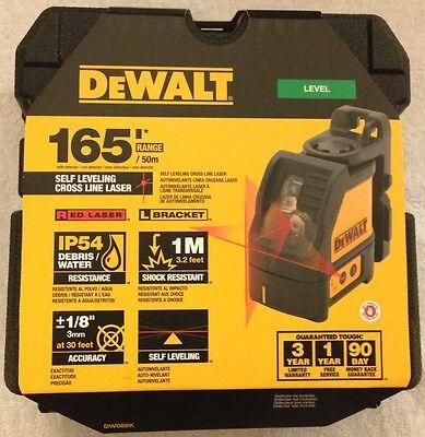 New Dewalt Dw088k Self Levelling Line Laser Horizontal Vertical Lines Nib