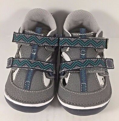 Stride Rite Gray/Green Soft Motion Bradshaw Sandals Toddler Size US 6W NIB