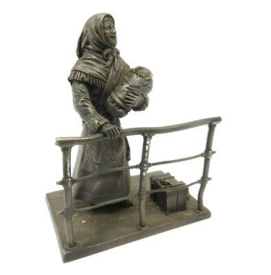 Franklin Mint Fine Pewter Figurine - The Immigrant 1896-1915