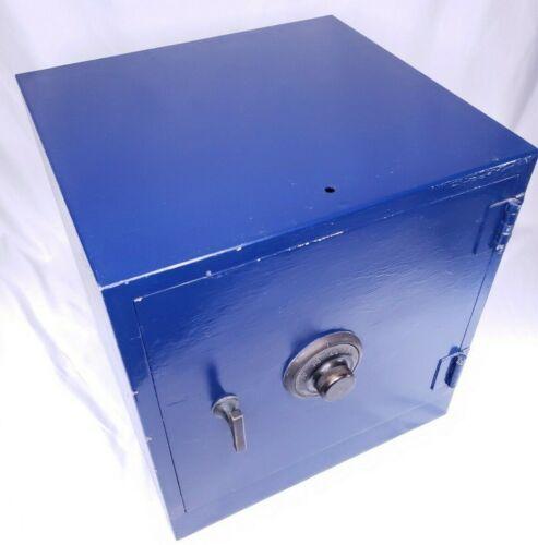Vintage York Lock Safe - Steel Strong Box - Blue