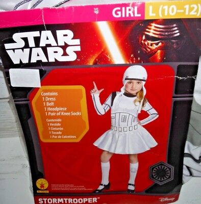 New Girls Star Wars Stormtrooper Halloween Costume Large - Stormtrooper Costume For Girls