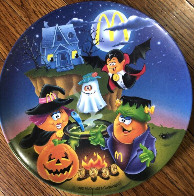 Vintage McDonalds Halloween Plates McNugget Buddies 1995
