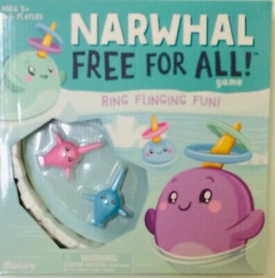 NIB Narwhal Free for All Game Board Game Toy