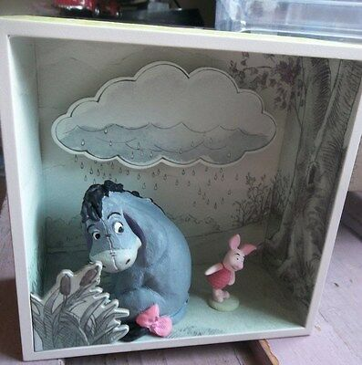 EEYORE'S CLOUDY AFTERNOON Winnie The Pooh HUNDRED ACRE WOOD Shadow Box