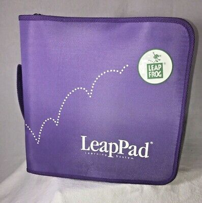 LeapFrog Learning System LeapPad Carrying Case 9 Cartridges 9 Books SpongeBob, used for sale  Shipping to India