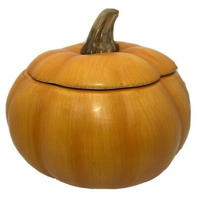 Teleflora Gifts Ceramic Pumpkin Candy Cookie Jar Vase Fall Halloween Home Decor