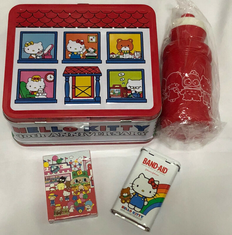 Mixed lot of Sanrio HELLO KITTY 40th anniversary Steel Lunch Box